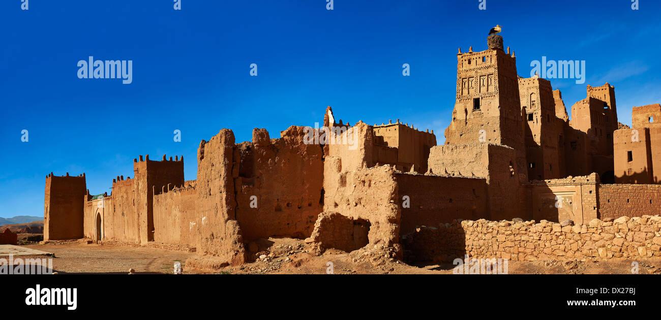 Die Glaoui Kasbah der Tamedaght im Ounilla-Tal, Marokko Stockbild