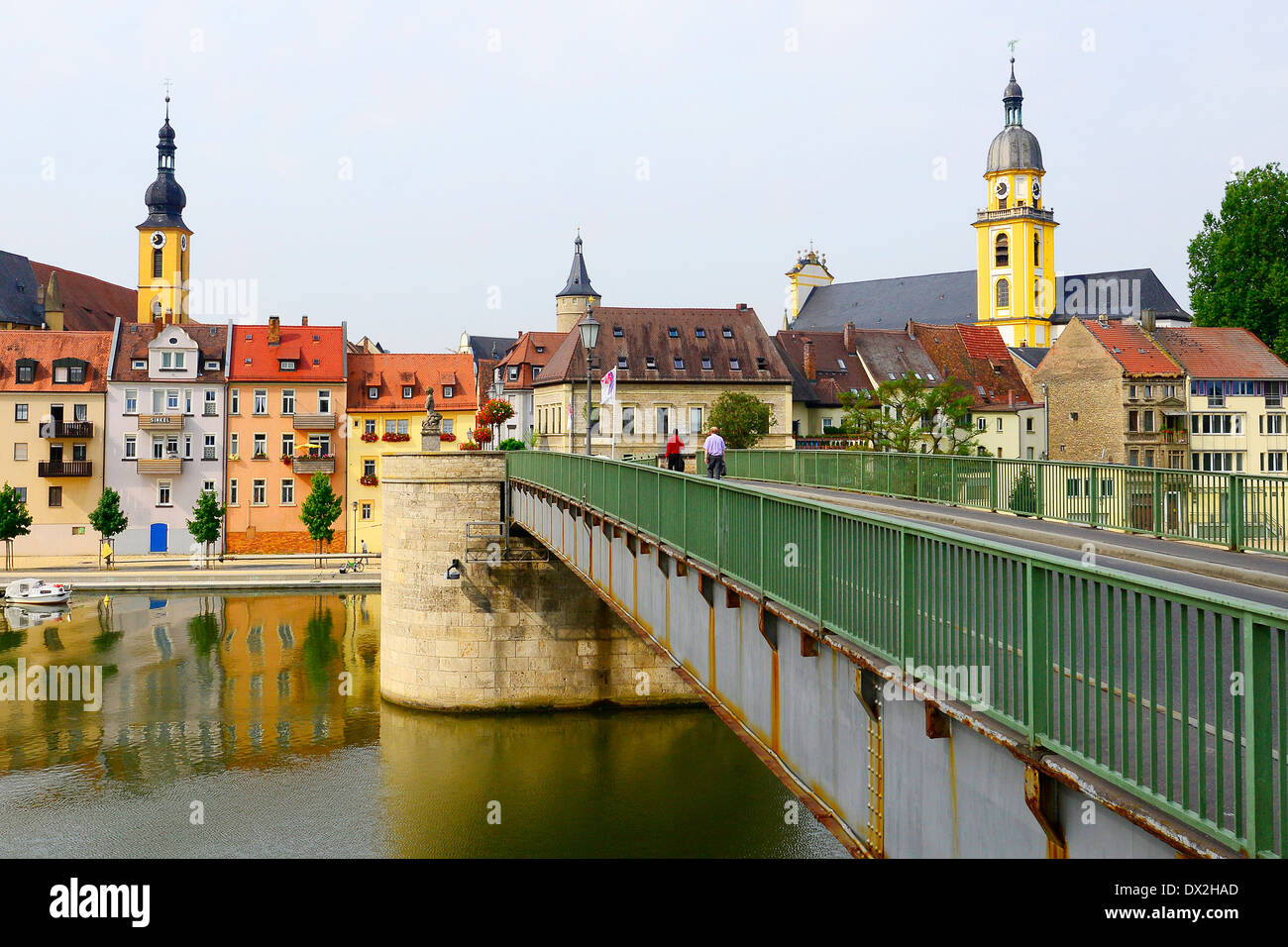 Bridge Main River Kitzingen Germany Stockfotos & Bridge