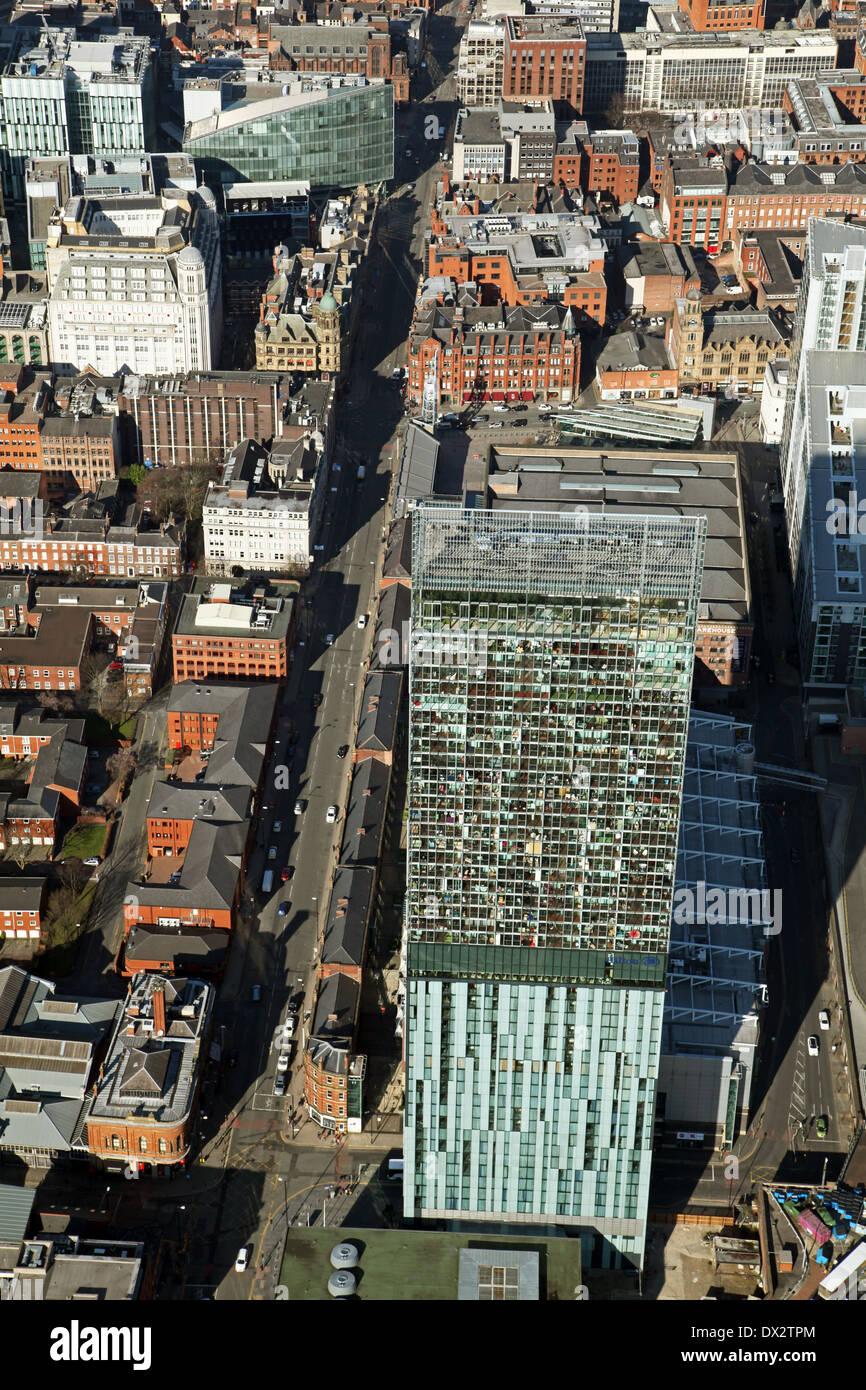 Luftaufnahme der Beetham Tower oder Hilton Tower, Deansgate, Manchester Stockfoto
