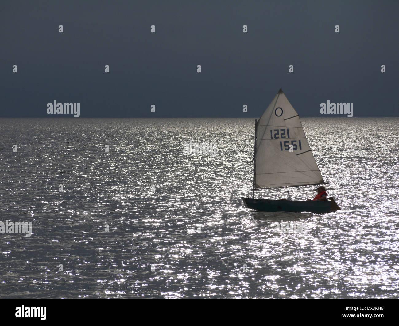 Segeln in der Ostsee, Dänemark Stockbild