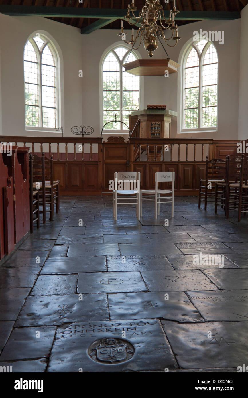 Historische Interieur der Wieringer Kapelle an das Zuiderzeemuseum ...