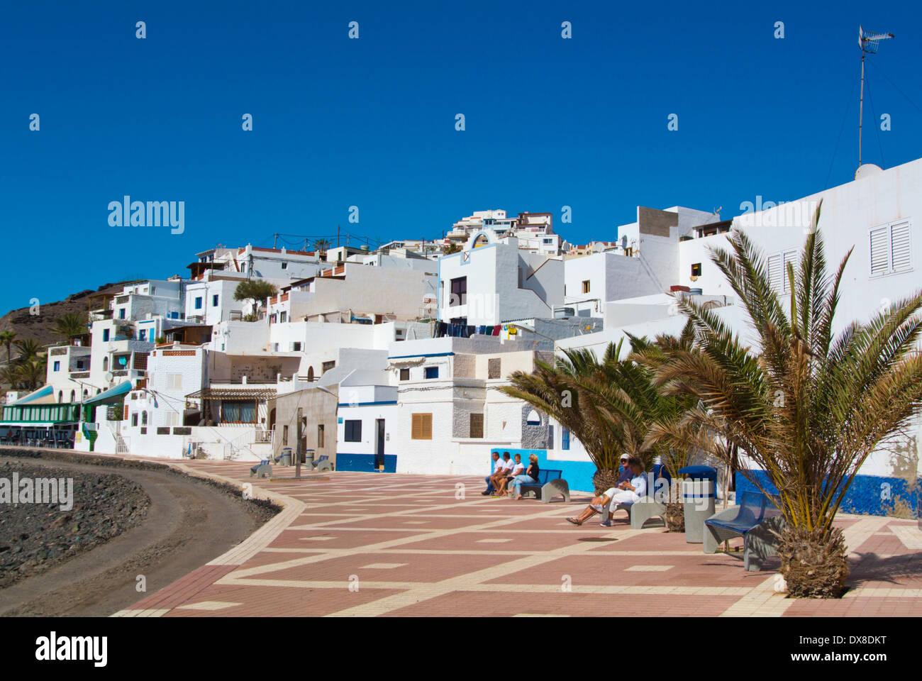 Paseo Miramar Strandpromenade, Las Playitas, Fuerteventura, Kanarische Inseln, Spanien, Europa Stockbild