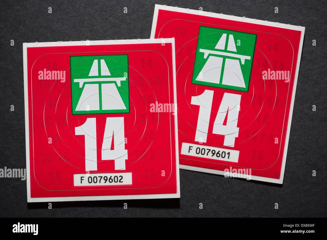 Schweizer Autobahn Vignette 2014 Stockfoto Bild 67799327 Alamy