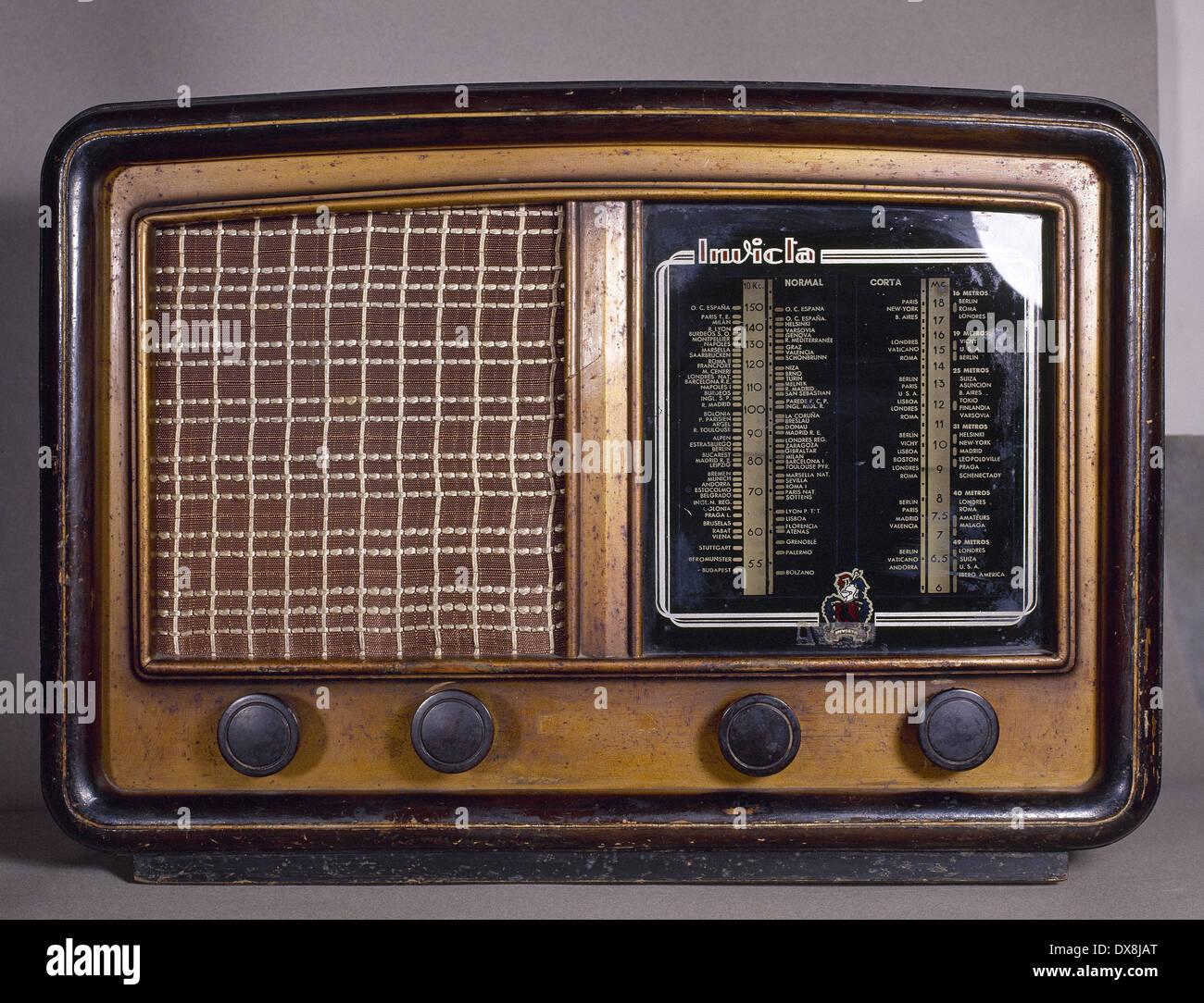 Alten Radio-Empfänger. Marke Invicta. Stockbild