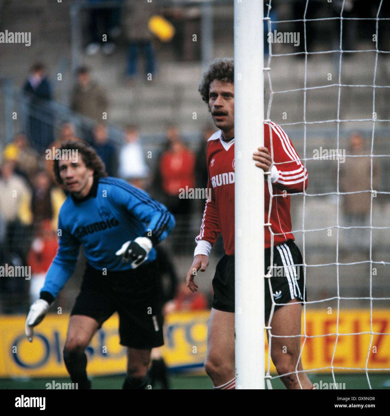 Fußball, Bundesliga, 1980/1981, Stadion bin Boekelberg, Borussia Moenchengladbach im Vergleich zu 1. FC Nürnberg Stockbild