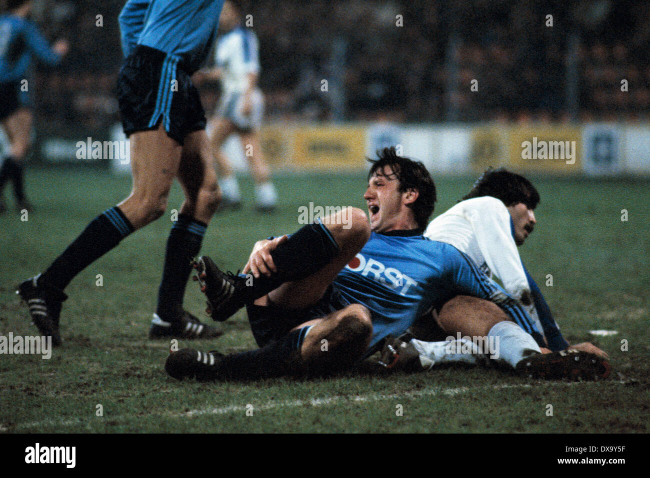 Fußball, Bundesliga, 1980/1981, Ruhrstadion, VfL Bochum gegen TSV 1860 München 4:1, Szene des Spiels, Stockbild