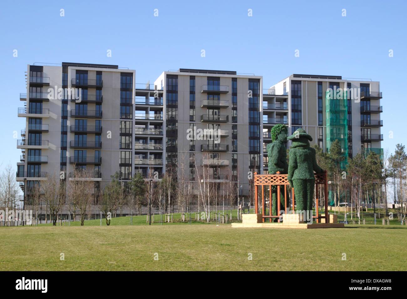 neue wohnungen east village olympic park stratford london stockfoto bild 67844932 alamy. Black Bedroom Furniture Sets. Home Design Ideas