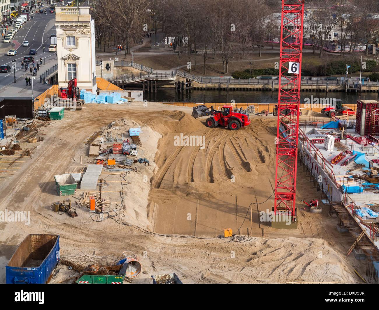 Baustelle im Stadtzentrum Stockbild