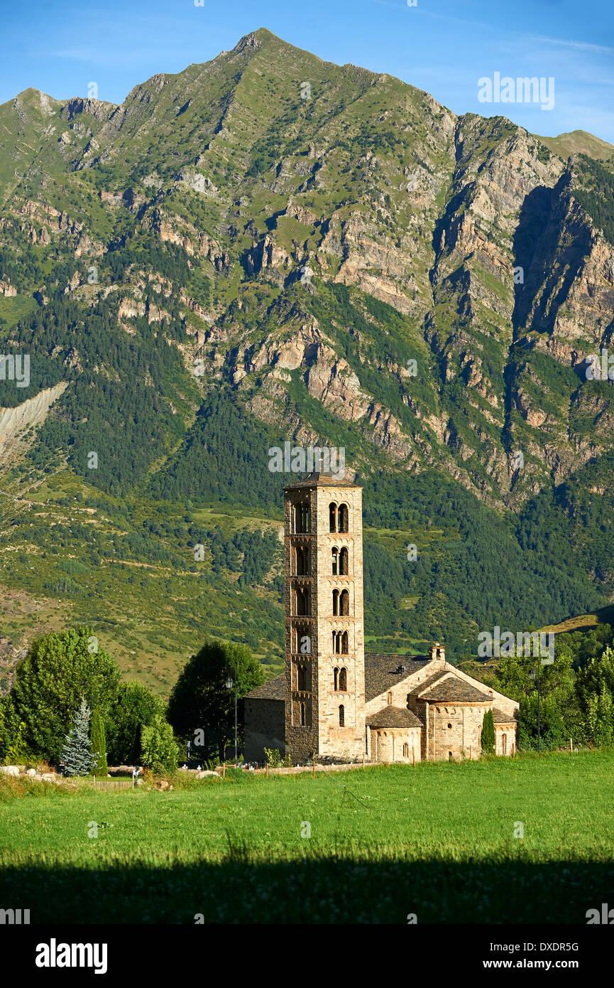 Im zwölften Jahrhundert Lombard Katalanisch Romanesque Kirche von Saint Climent (Clemens) in Taull, Vall de Boi, Stockbild