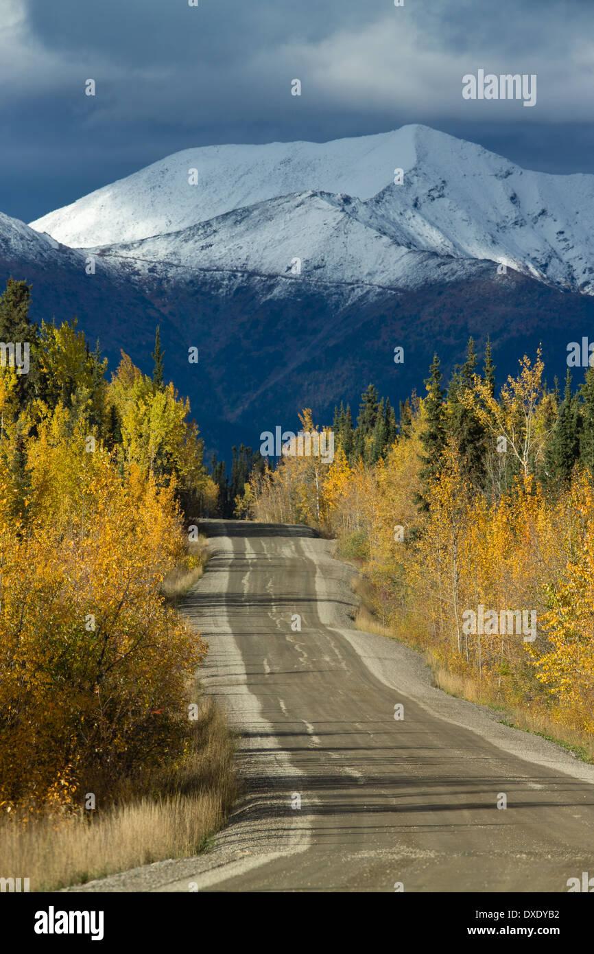 Der Weg zum Keno, Silver Trail in der Nähe von Mayo, Yukon Territorien, Kanada Stockbild