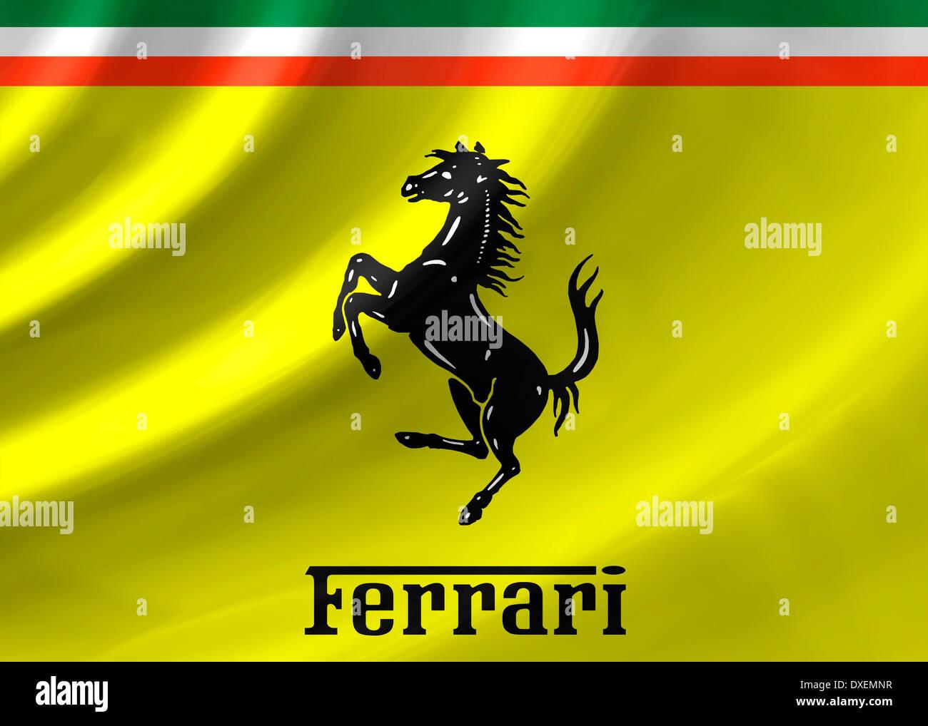 Ferrari Logo Flagge Symbol Emblem Stockfotografie Alamy