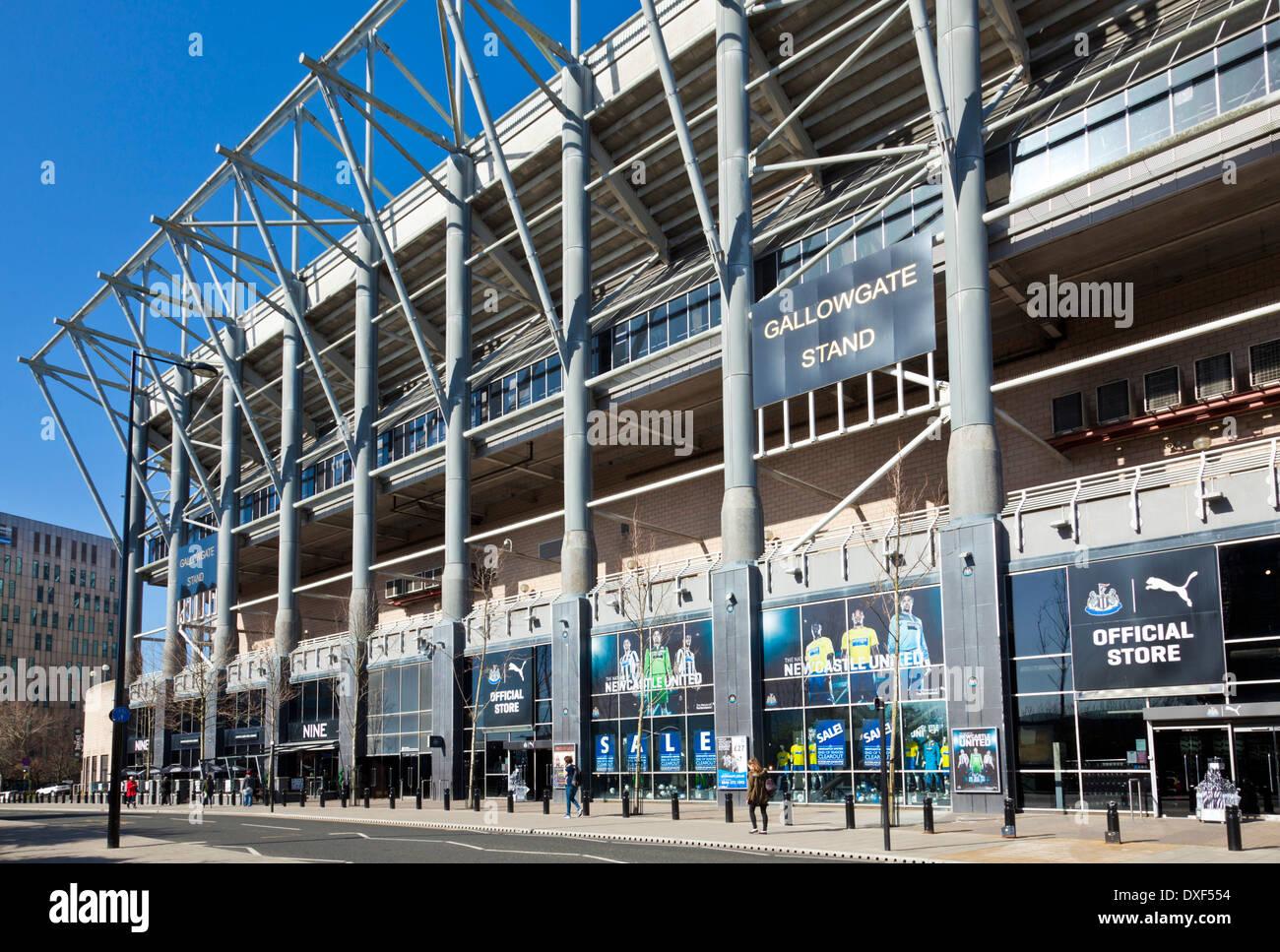 St James' Park Fußball Stadion Heimat von Newcastle United Football Club Newcastle Upon Tyne Tyneside England gb uk EU-Europa Stockbild
