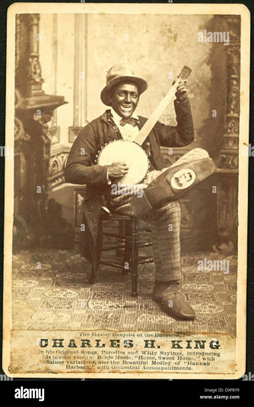 Charles H. King, Master Banjospieler des Universums Stockbild