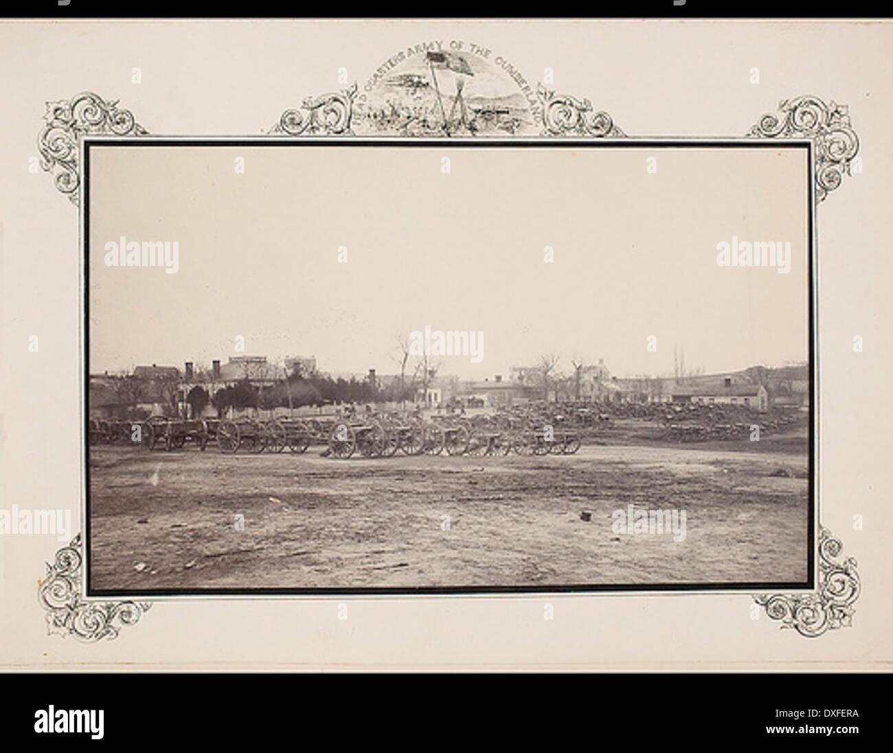 Blick auf den Park der Artillerie an der Schlacht von Chattanooga erfasst Stockbild