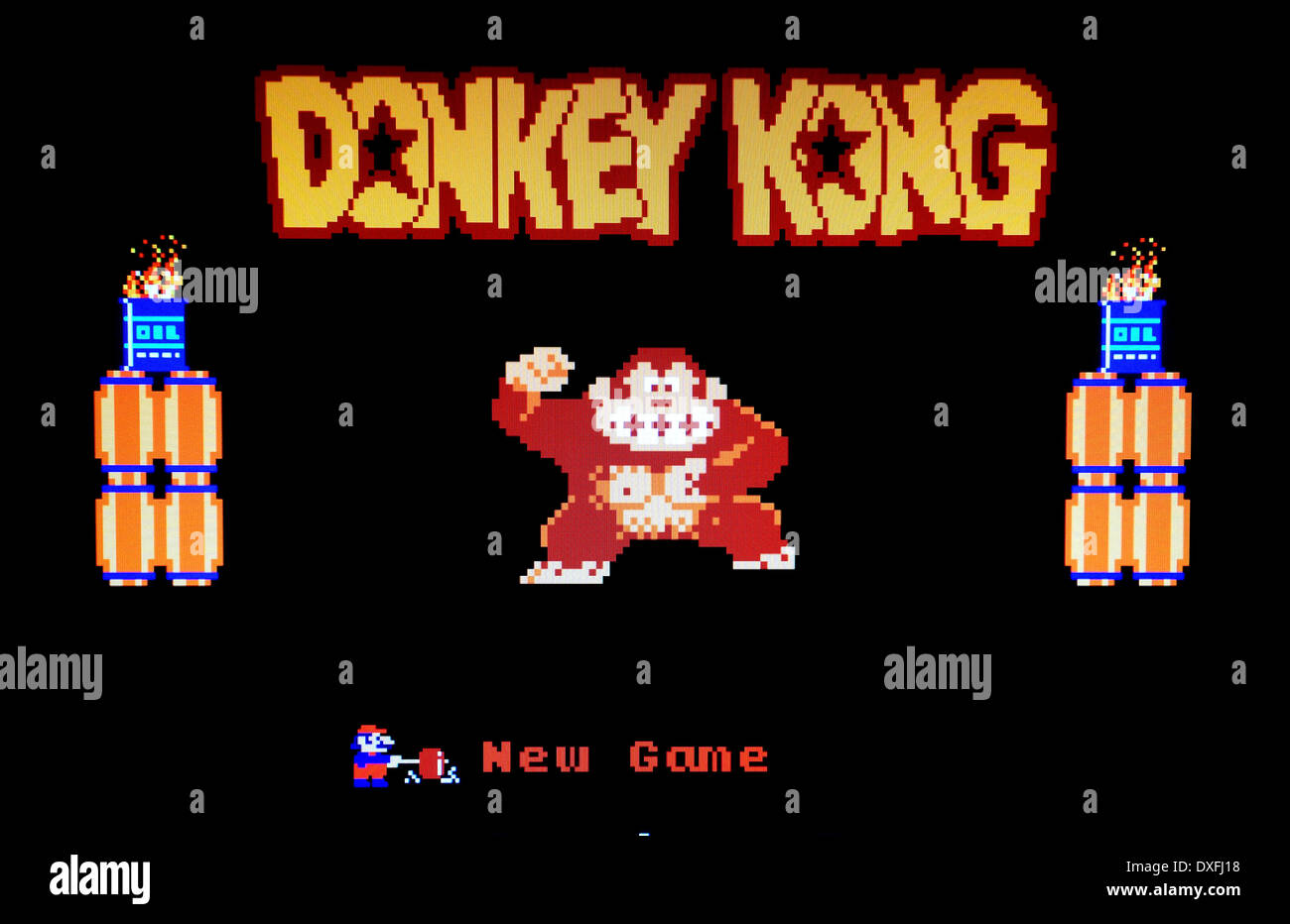 Klassische 80er Jahre Arcade-Spiel Donkey Kong Stockbild