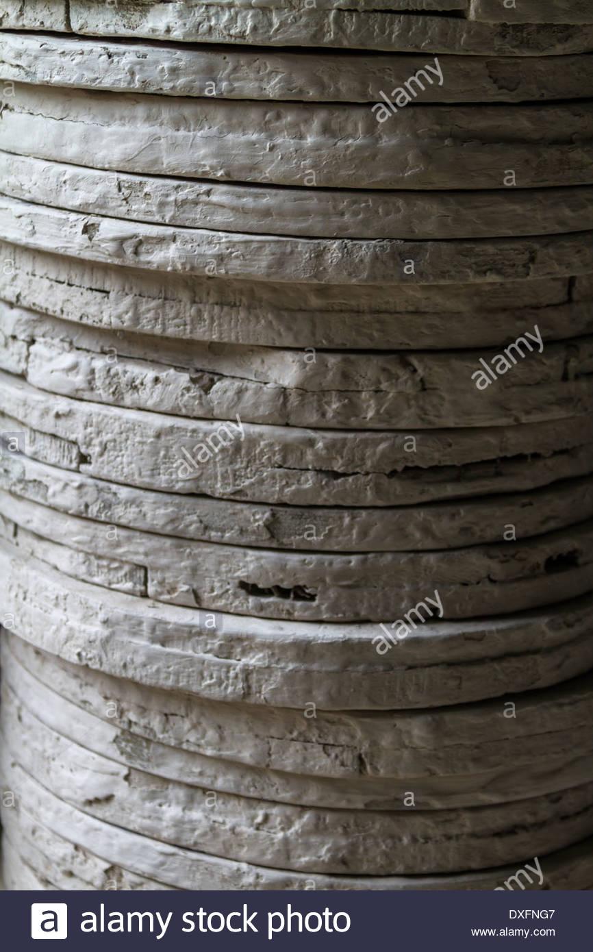 Nahaufnahme des Schichtaufbaus - Marokko Stockbild