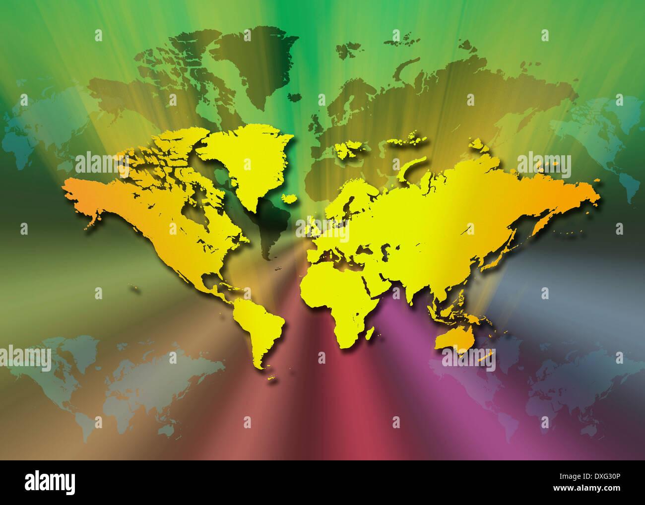Karte Der Welt Stockfoto Bild 67965766 Alamy