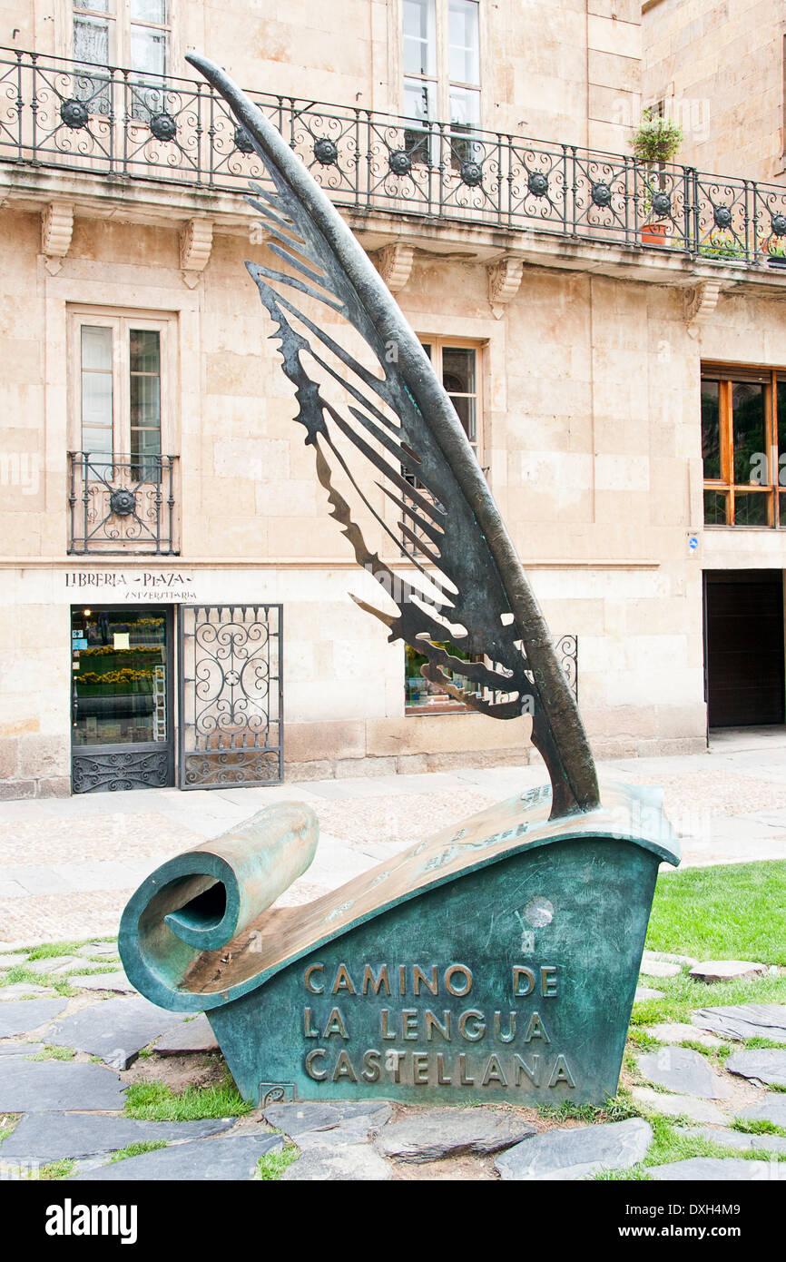 Denkmal für die spanischen Lenguage; Weg von der spanischen Lenguage Stockbild