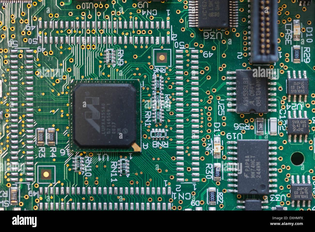 Mikroprozessor-Platine Stockbild
