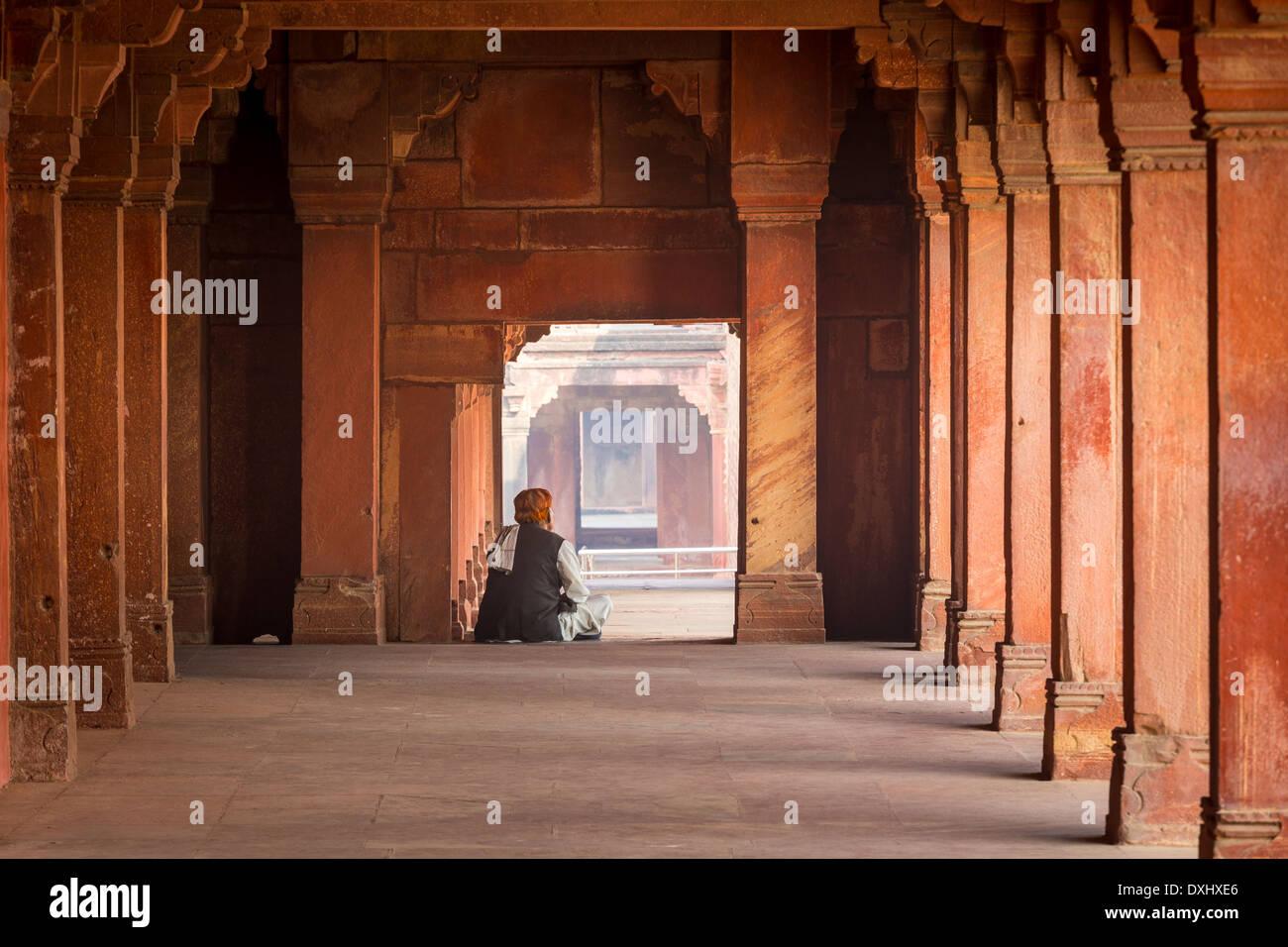Fatehpur Sikri ist eine Stadt und ein Gemeinderat in Agra Bezirk im Bundesstaat Uttar Pradesh, Indien Stockbild