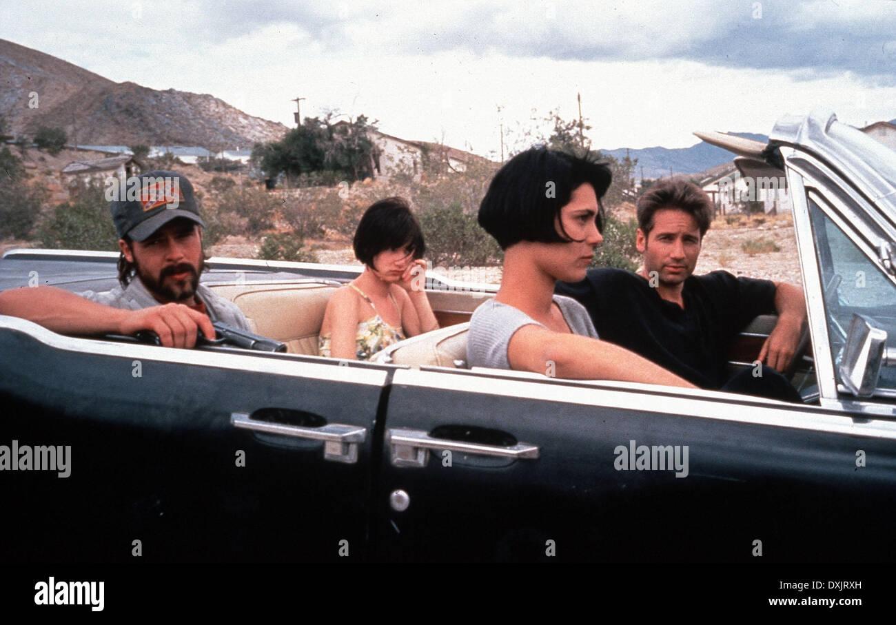 KALIFORNIA (US1993), BRAD PITT, JULIETTE LEWIS, MICHELLE FORB Stockbild