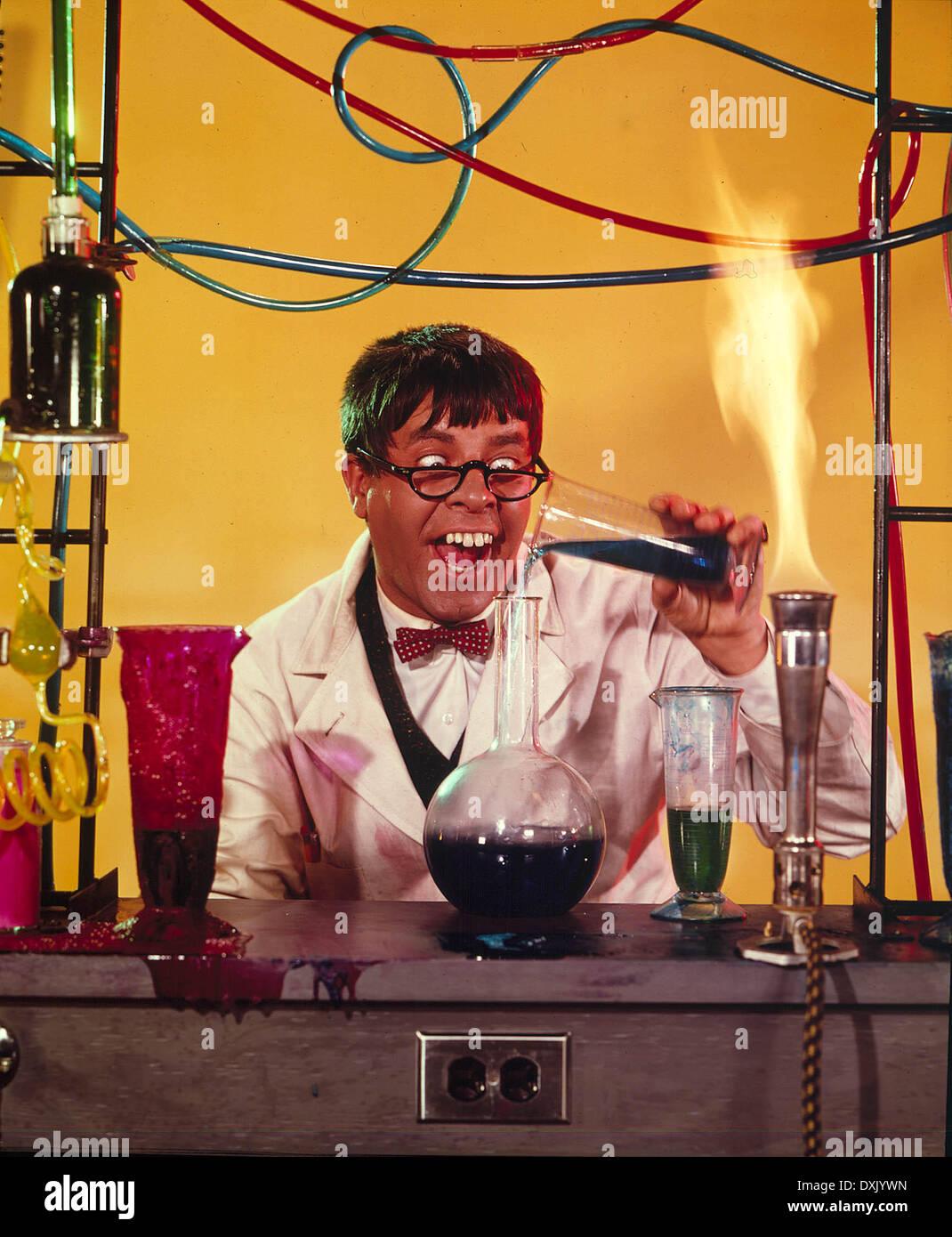 Der Verrückte Professor Us1963 Jerry Lewis Mad Scientist Stockfoto