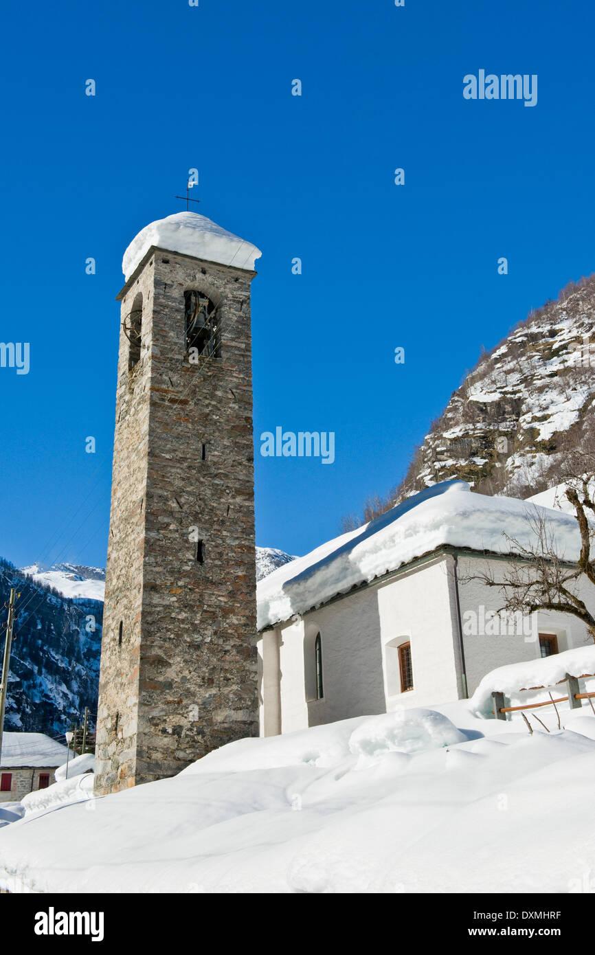 Schweiz, Lavizzara Tal, Peccia Stockfoto