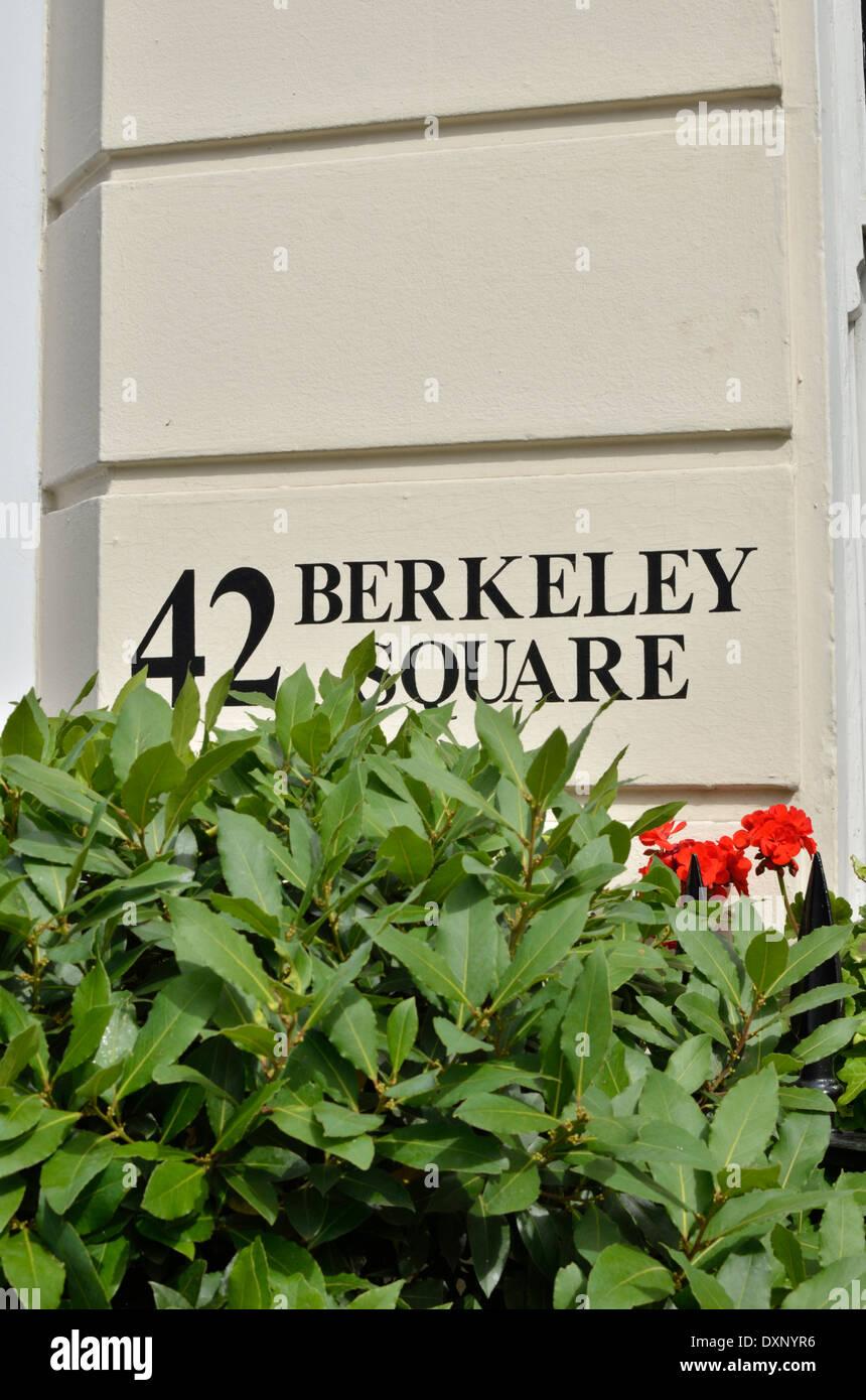 42 Berkeley Square, Mayfair, London, UK. Stockbild