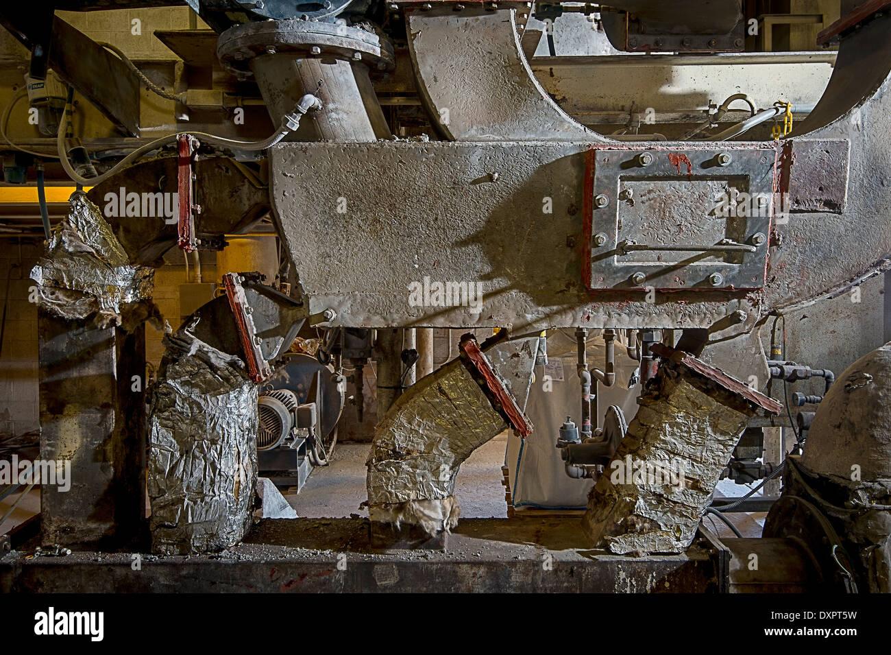Industrieofen In Fabrik Stockbild