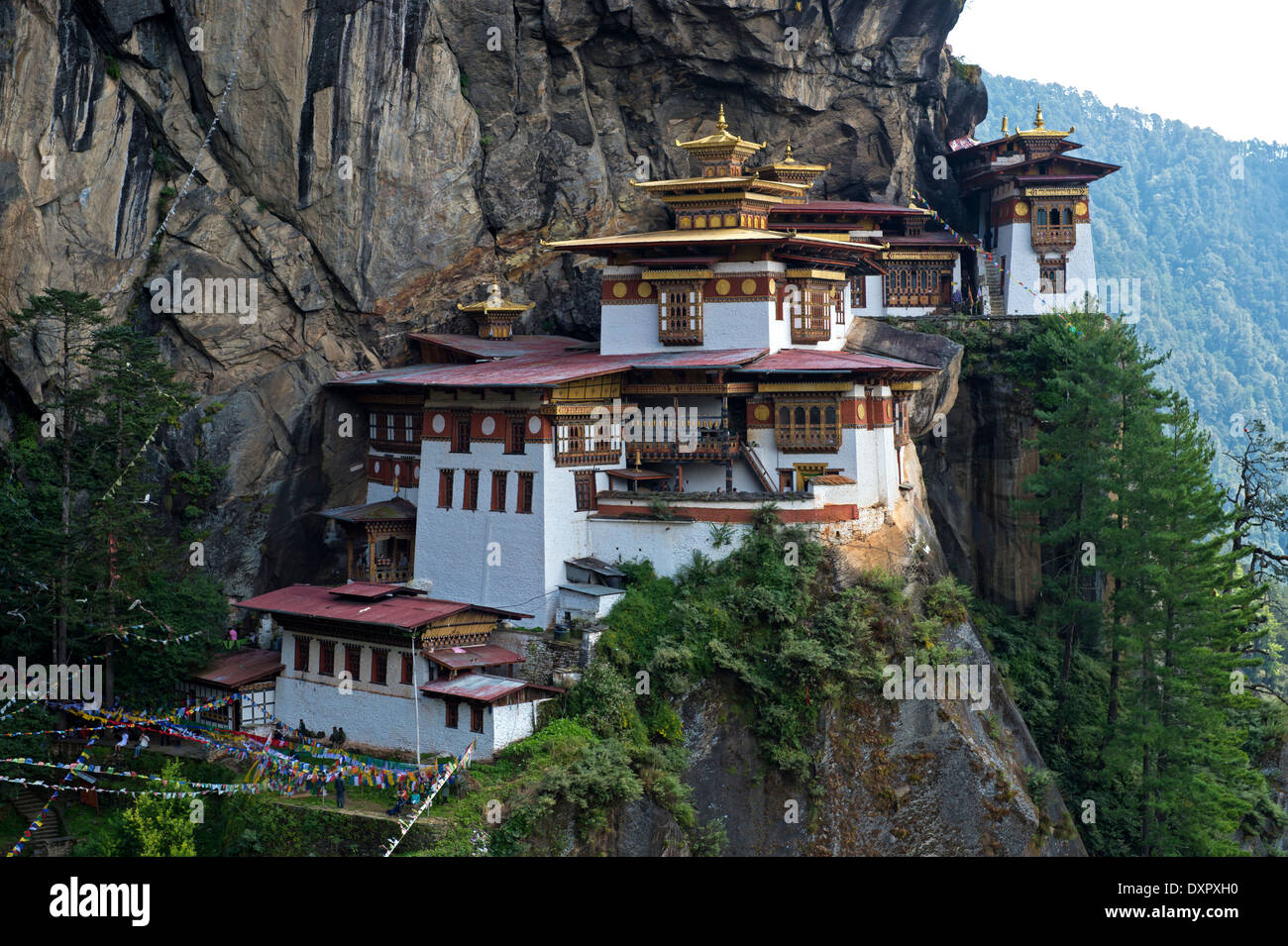 Der Tiger nest Kloster Taktsang Kloster palphug, Paro, Bhutan Stockfoto