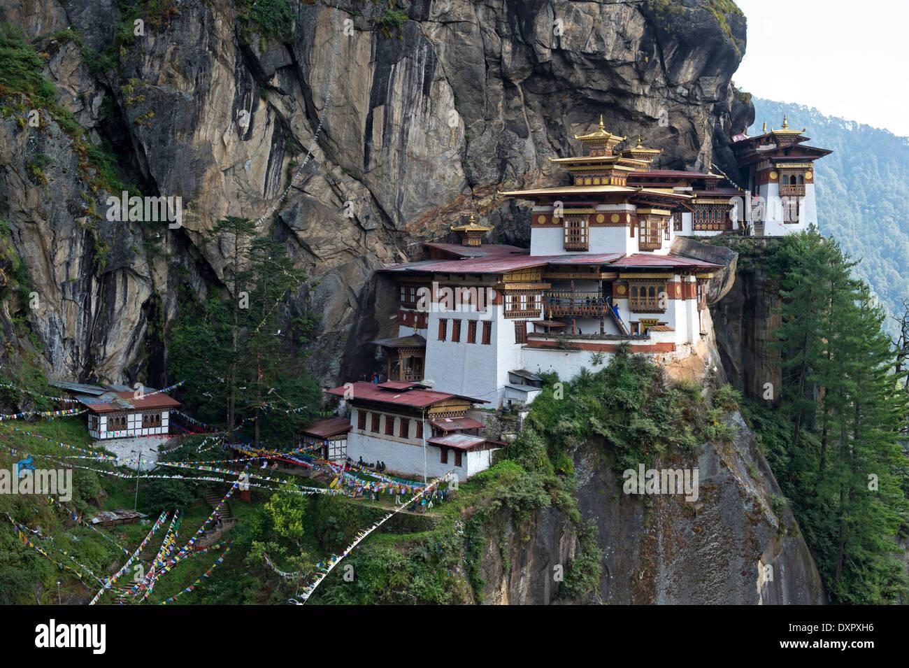 Des Tigers Nest Kloster, Palphug Kloster Taktsang, Paro, Bhutan Stockfoto