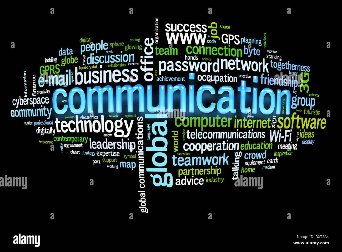 Kommunikation Konzept Bild Wortwolke Stockbild