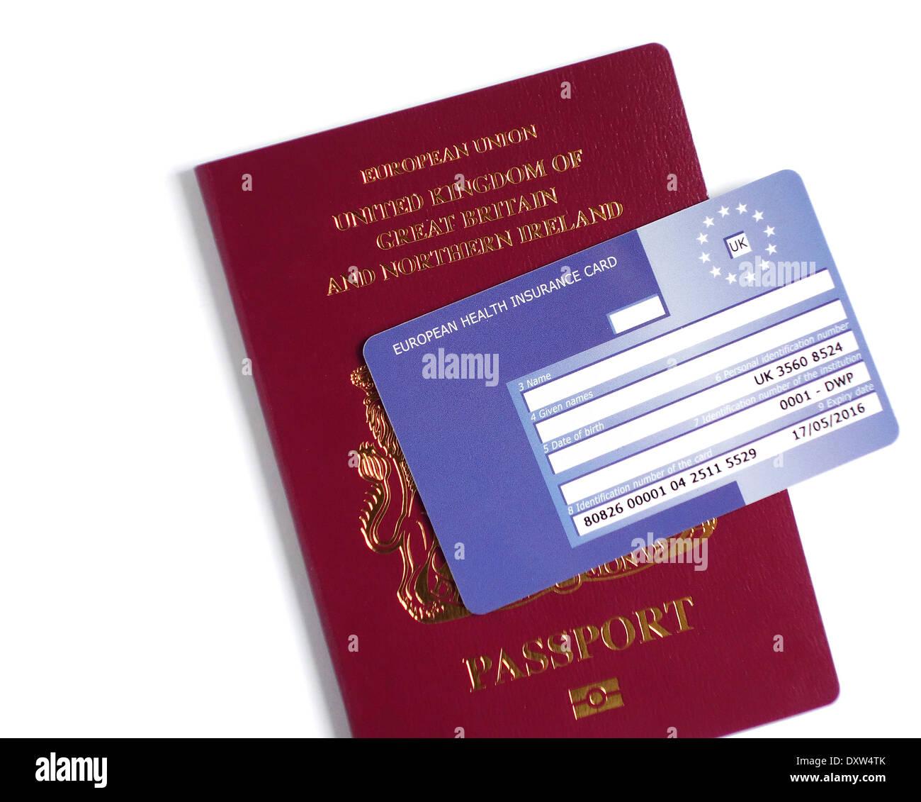 UK-Pass und Ehic-Karte Stockbild