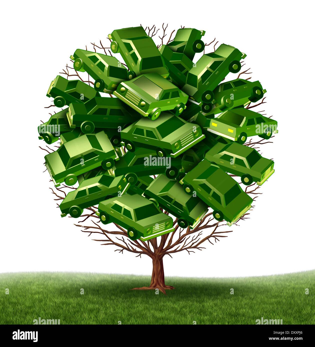 Grünes Auto und alternative Kraftstoffe Fahrzeugkonzept als eine ...