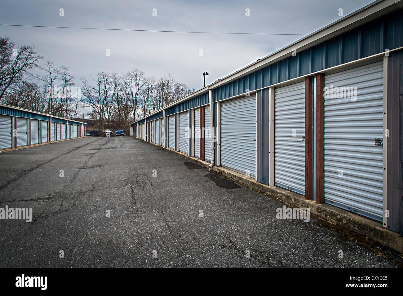 Self-Storage-Einheiten Anlage Schuppen Stockbild