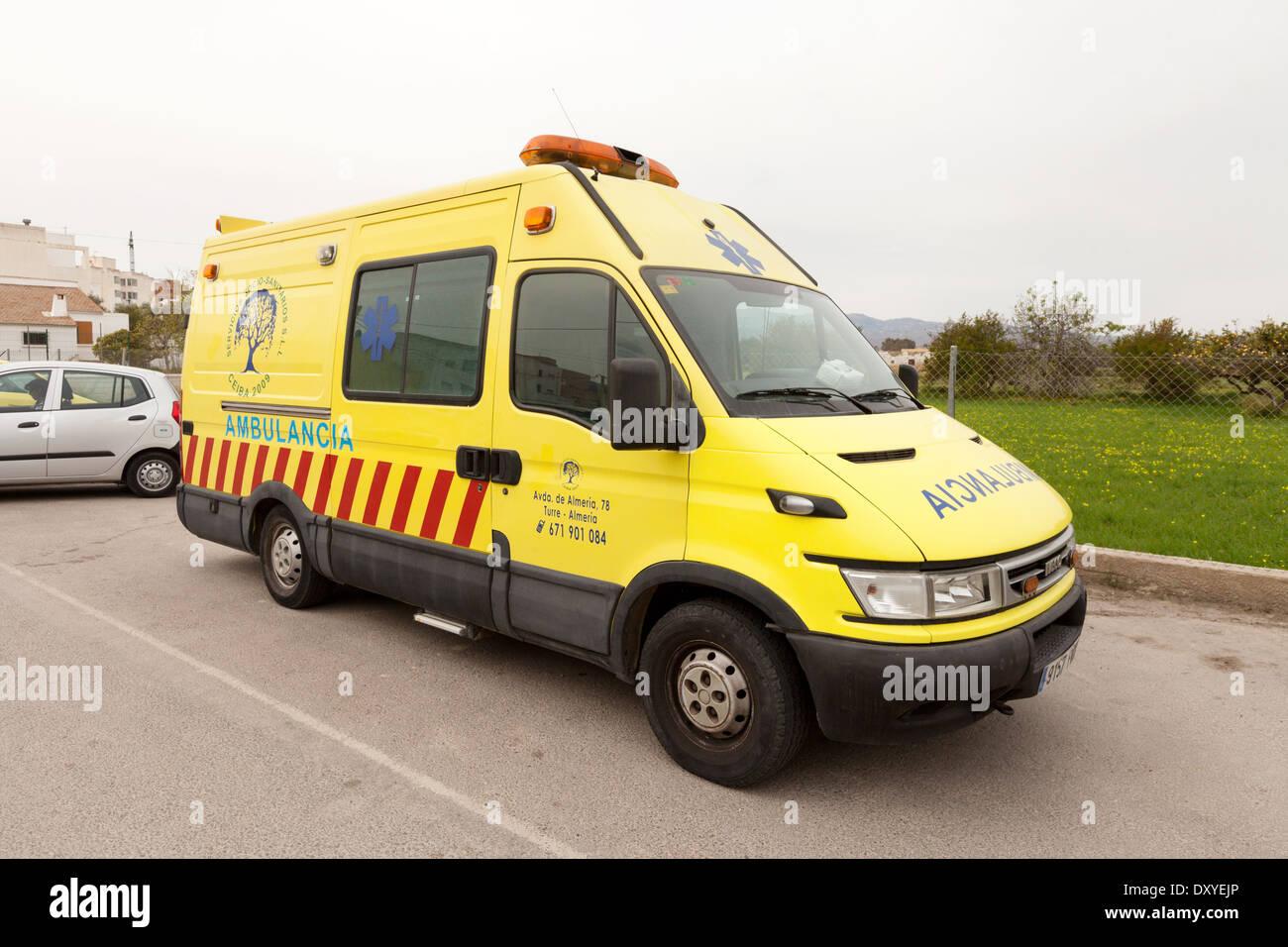 Spanien, Krankenwagen Teil des Europäischen Spanisch Health Service, Almeria, Andalusien, Spanien Stockbild