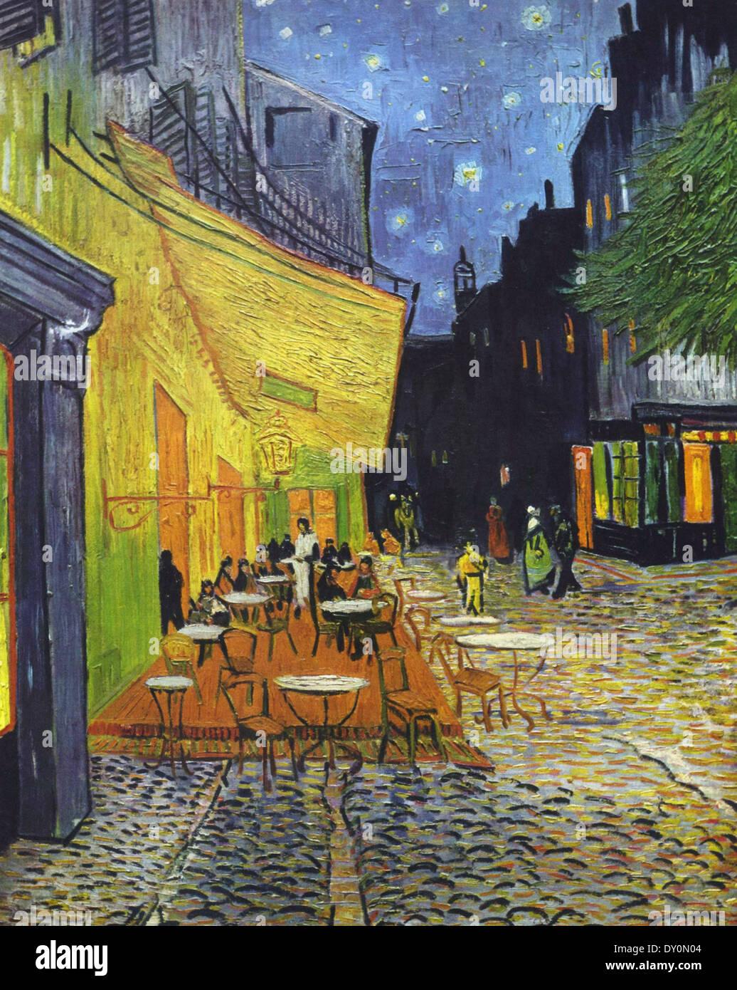 Vincent Van Gogh Cafe Terrasse Bei Nacht Stockfoto Bild 68243284