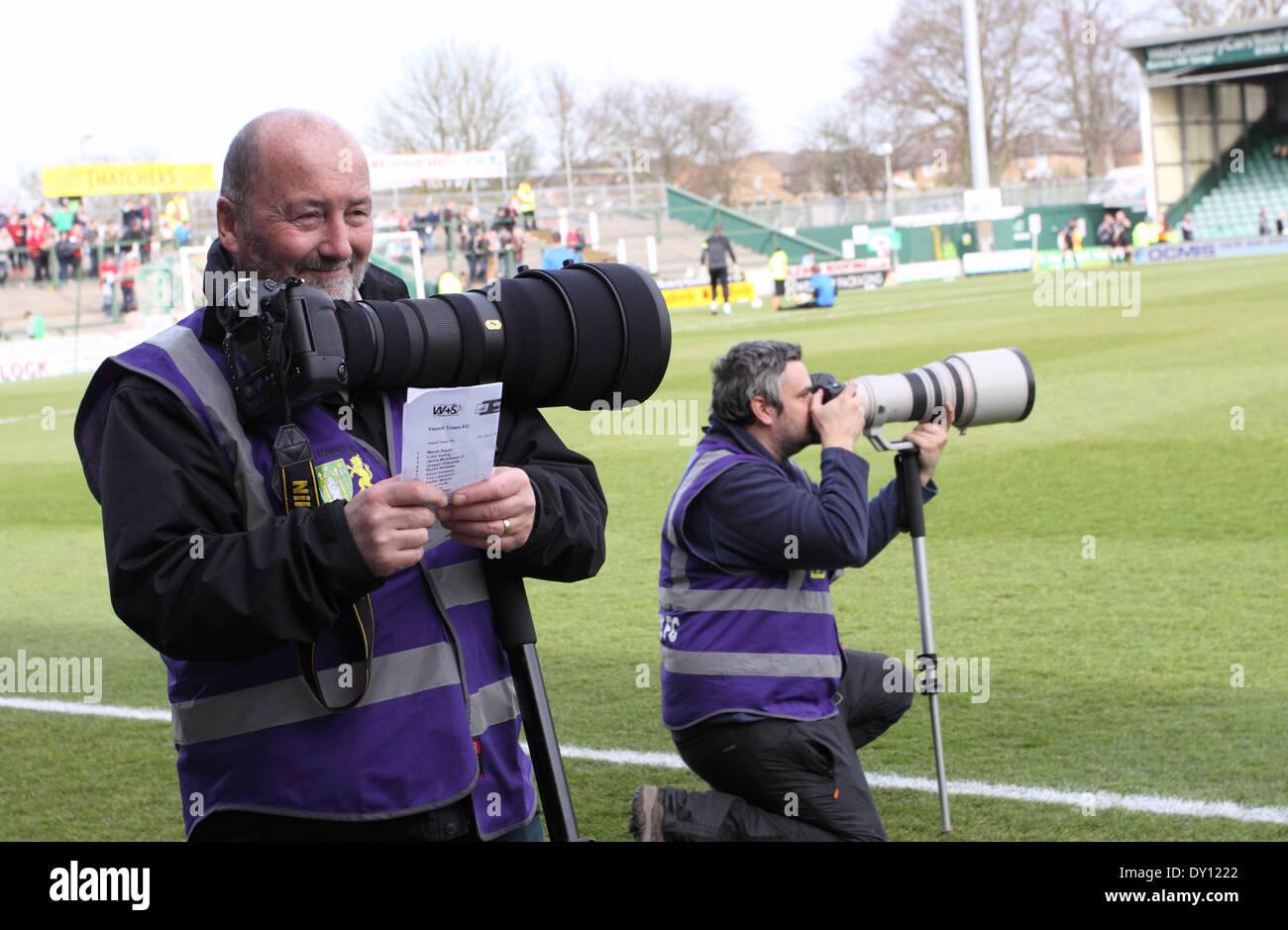 Presse Sport Fotografen Bei Fussball Liga Entsprechen