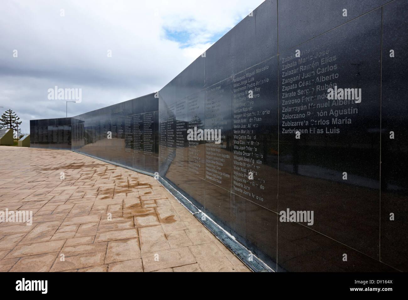 Islas Malvinas Krieg Memorial Wall Ushuaia Argentinien Stockbild