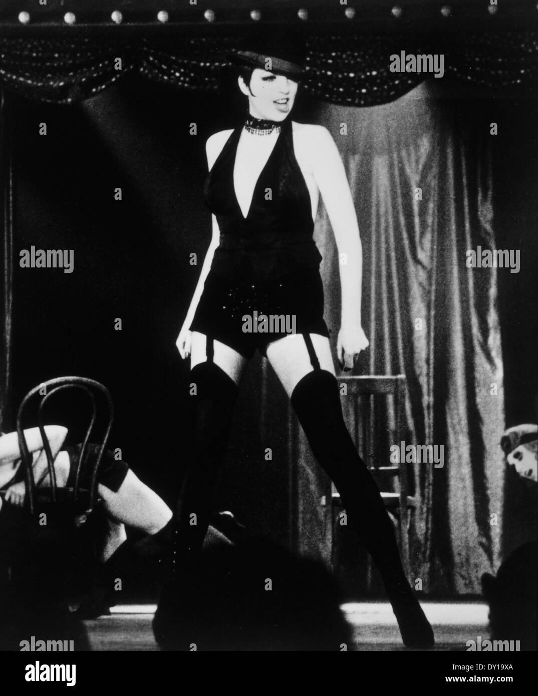 Liza Minnelli Am Set Des Films Cabaret 1972 Stockfoto Bild