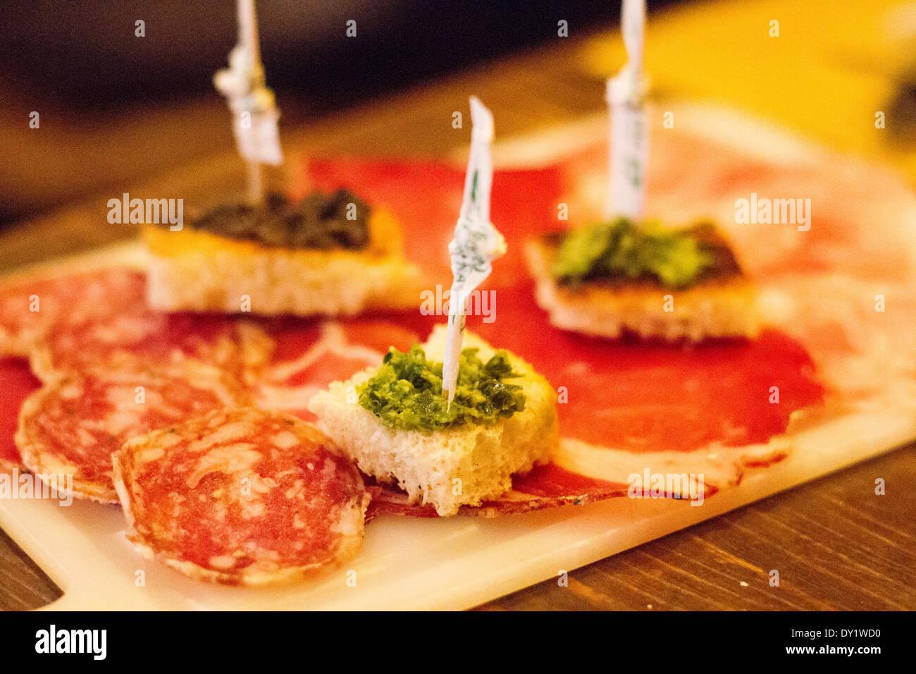 Typisch italienische Küche in Ferrara, Emilia Romagna, Italien Stockbild