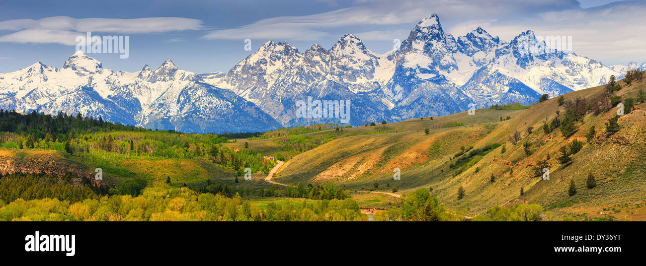 Grand-Teton-Nationalpark im Norden westlichen Wyoming, USA. Stockbild