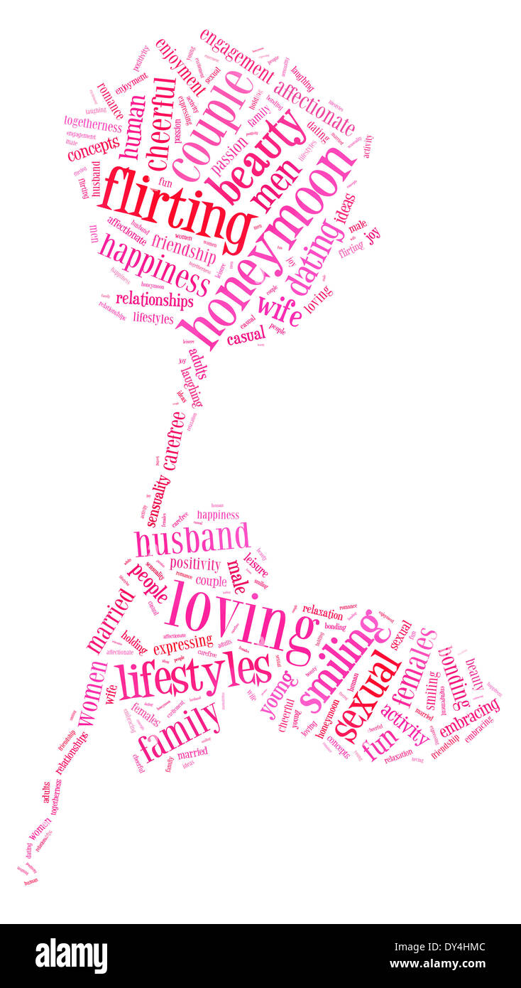 Valentinstag und Liebe Konzept in Wort-Tag-cloud Stockbild