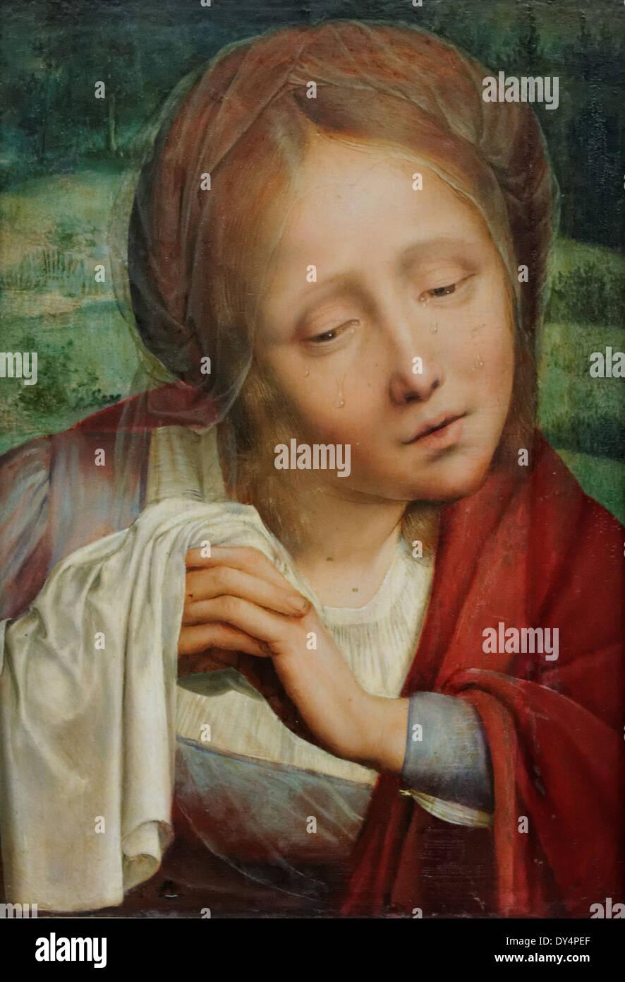 Quinten Massys - klagende Maria Magdalena - 1525 - XVI th Jahrhundert - flämischen Schule - Gemäldegalerie - Berlin Stockbild