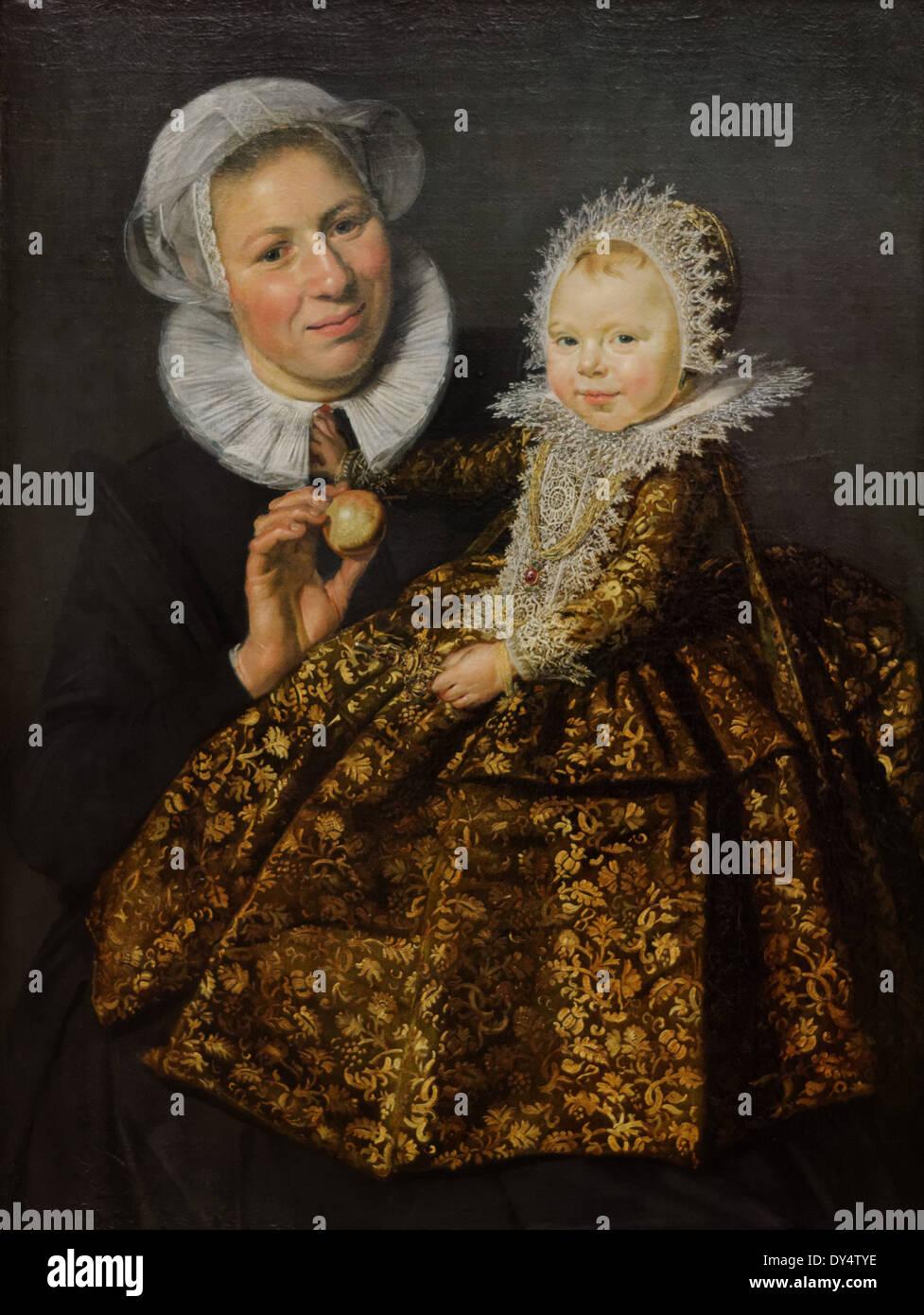 Frans Hals - Catharina Hooft mit ihrer Krankenschwester - 1620 - XVII th Jahrhundert - flämischen Schule - Gemäldegalerie - Berlin Stockbild