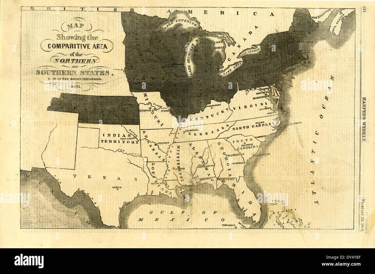Diese Karte zeigt die vergleichende [sic] Bereich der ...