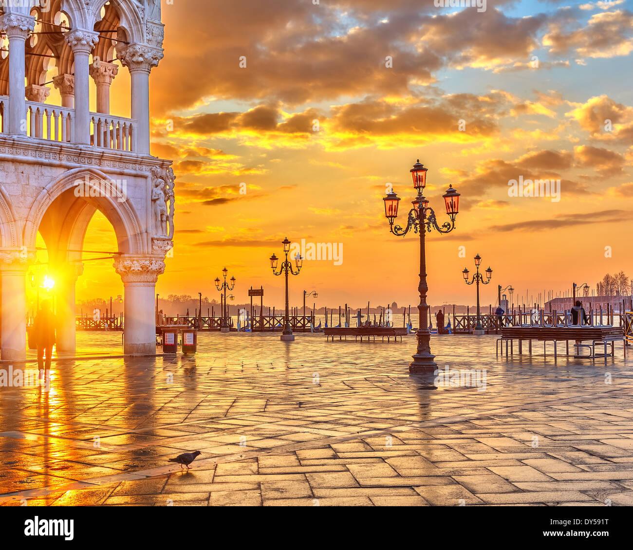 Sonnenaufgang in Venedig Stockfoto