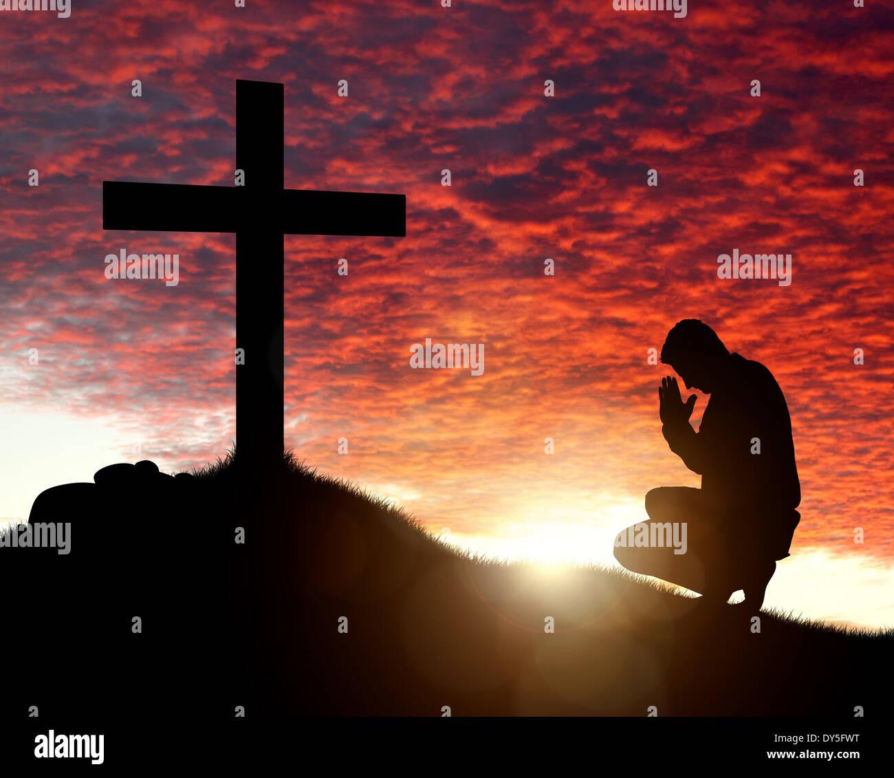 Anbetung, Liebe und Spiritualität Stockbild