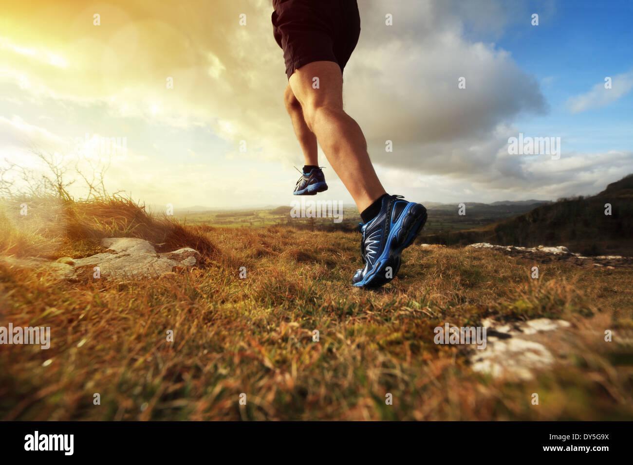 Gesunden Trail-Lauf Stockbild