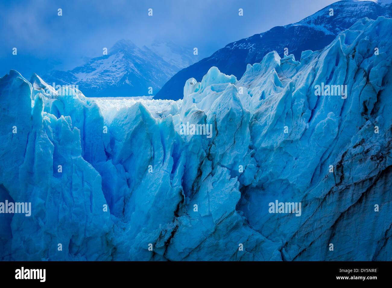 Der Perito-Moreno-Gletscher ist ein Gletscher im Nationalpark Los Glaciares im Südwesten der Provinz Santa Cruz, Stockfoto